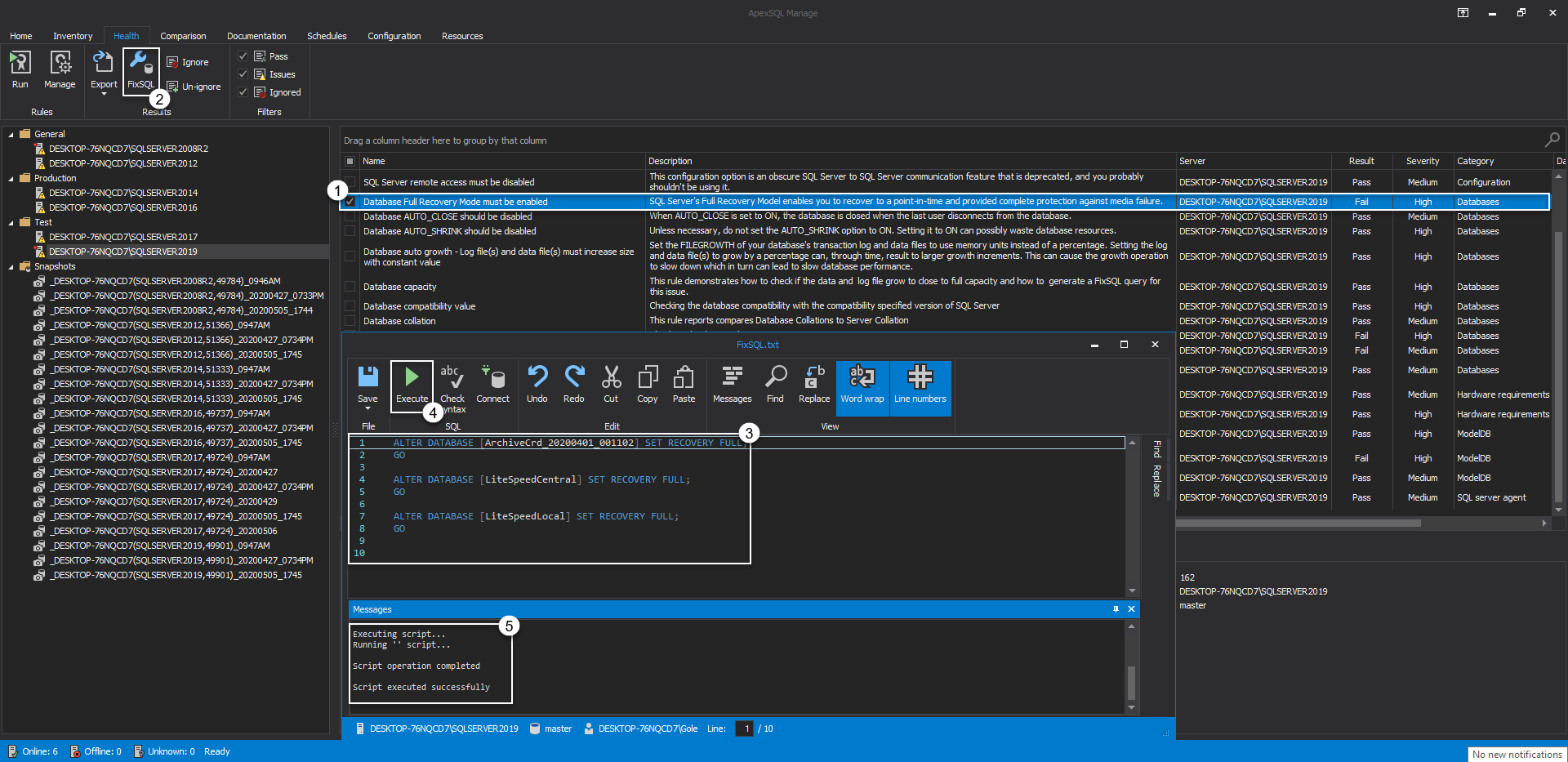 FixSQL editor
