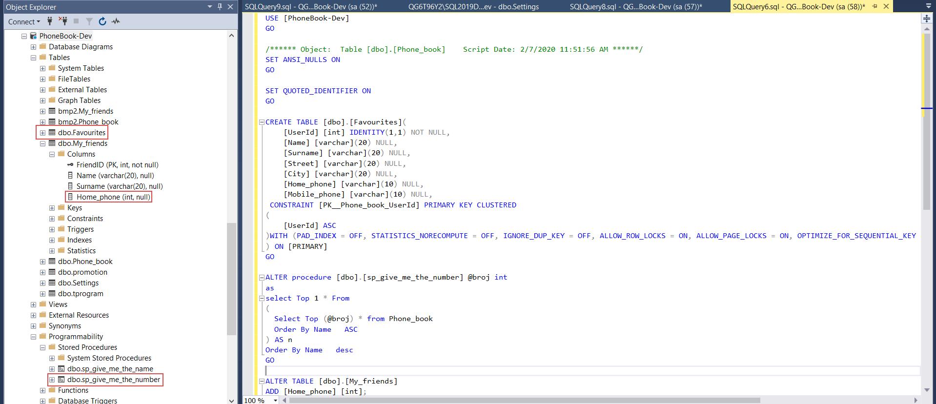 New database lifecycle iteration development
